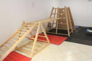 Salle de motricité de l'école Trois Papillons de Luanda