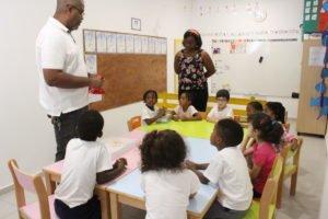 Salas de aula da escola Trois Papillons, estabelecimento de ensino francês em Luanda, Angola