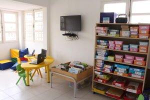 La bibliothèque - ludothèque de l'école Trois Papillons de Luanda
