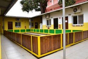 Salles de classe de l'école Trois Papillons, établissement scolaire francophone à Luanda